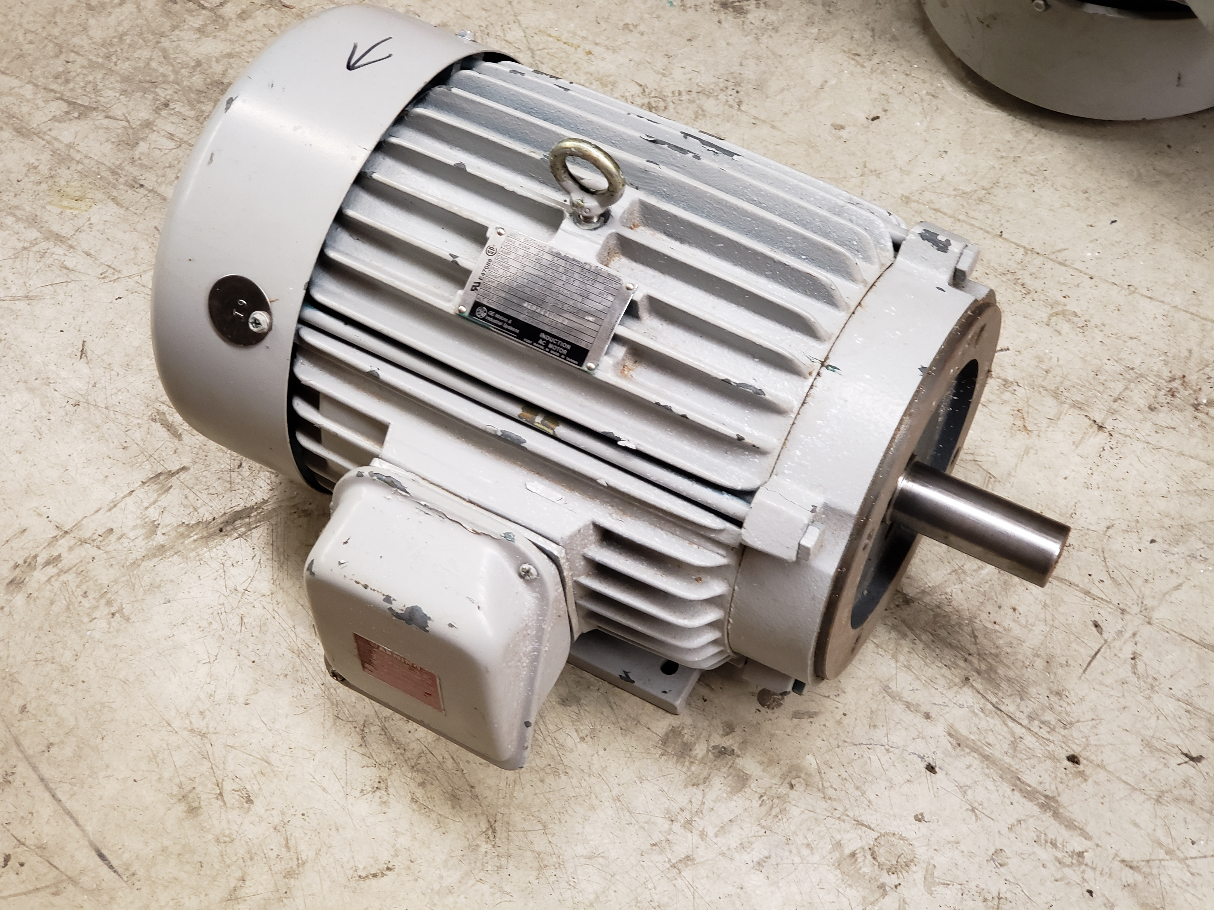 GE 10 Hp, 3515 Rpm, 215TCY Frame Electrical Motor