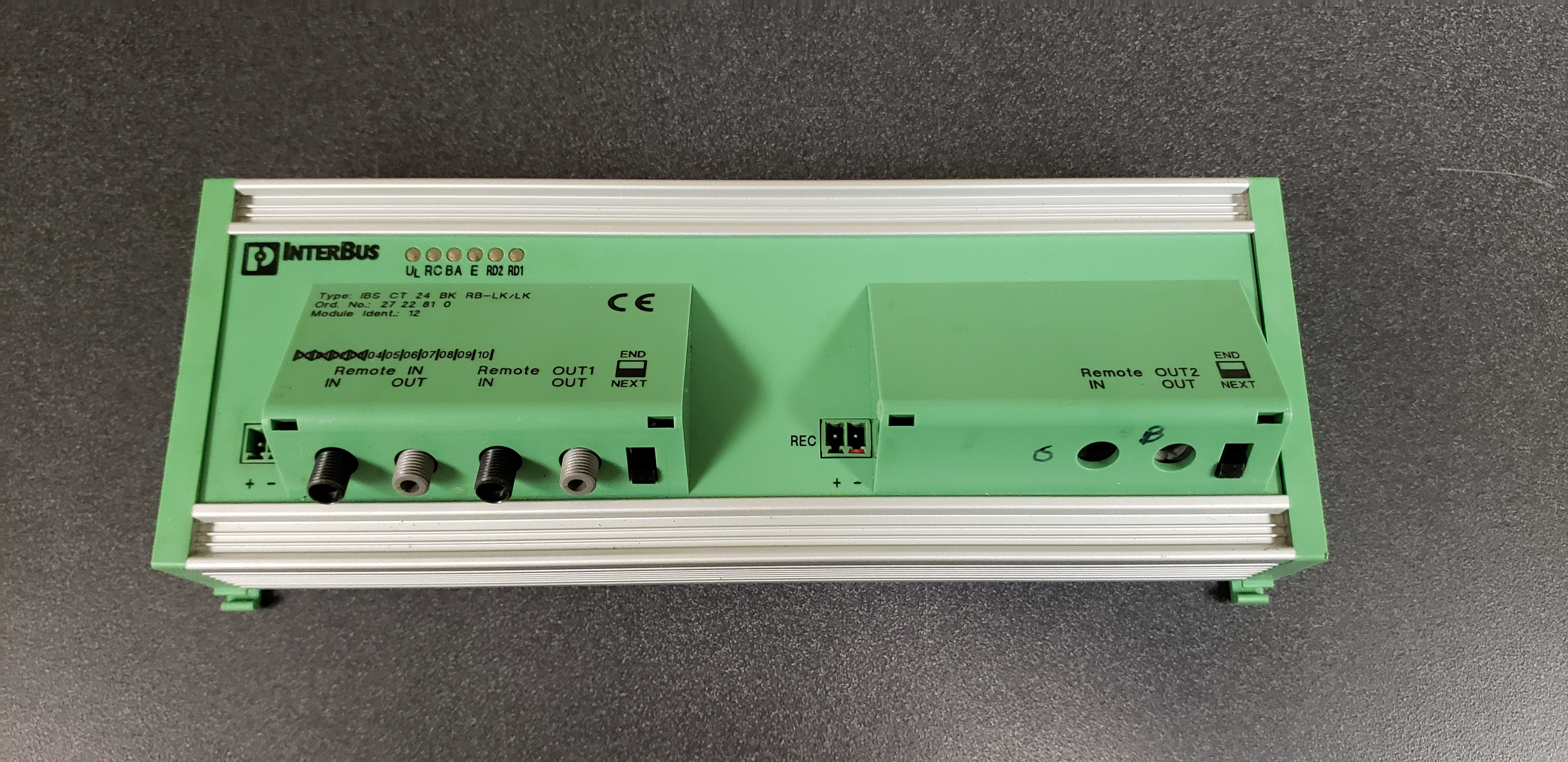 Phoenix Contact Interbus IBS-CT-24-BK-RB-LK/LK Module Model 27-2