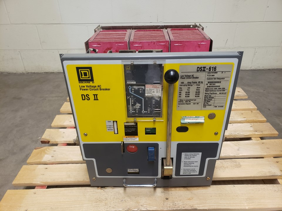 Square D DSII-616 Circuit Breaker 1600 Amp; 635 Volts