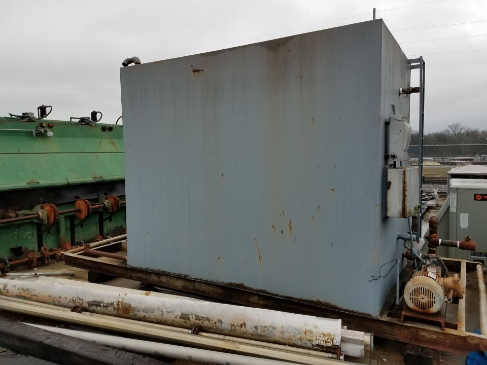 3,590 Gallon Rectangle Steel Tank