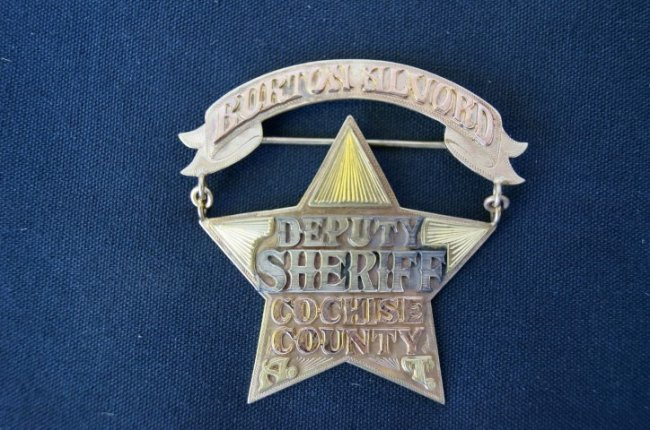 Gold Burton Alvord Deputy Sheriff Badge Cochise County