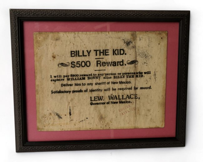 Billy The Kid Reward Poster
