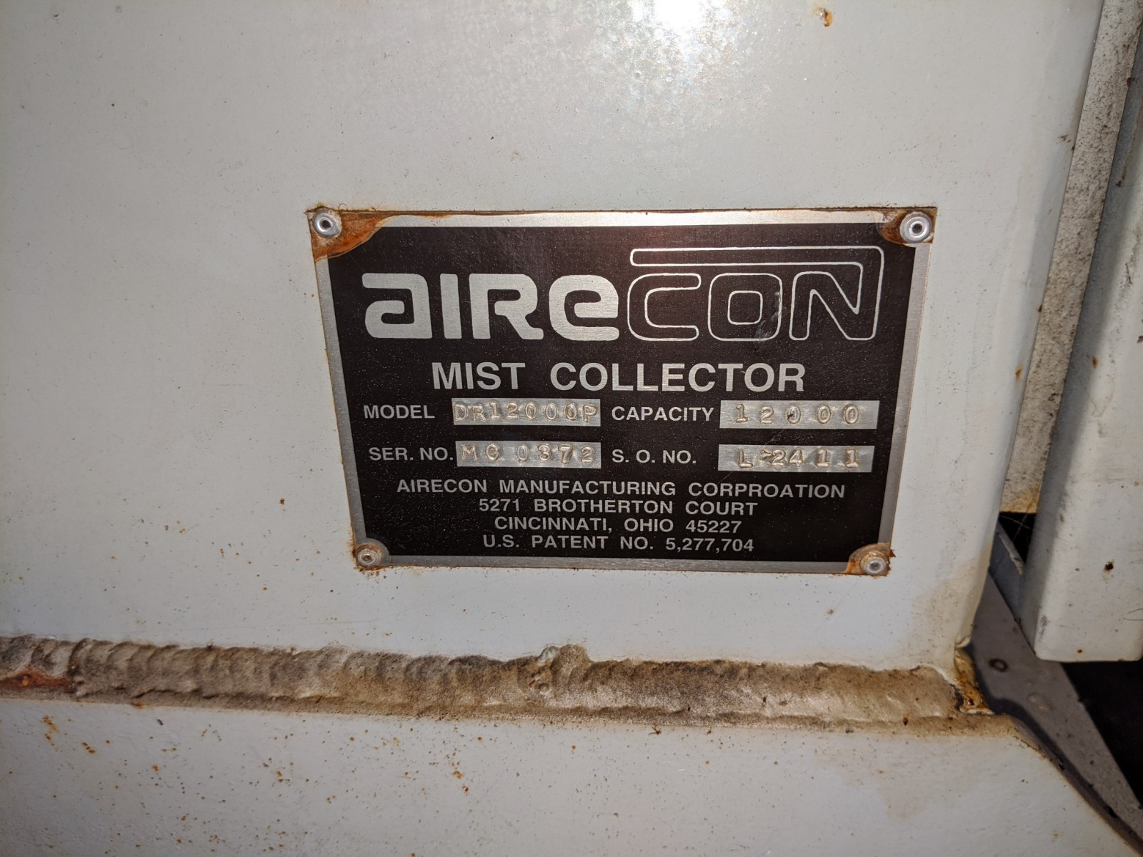 Airecon DR12000P Mist Collector