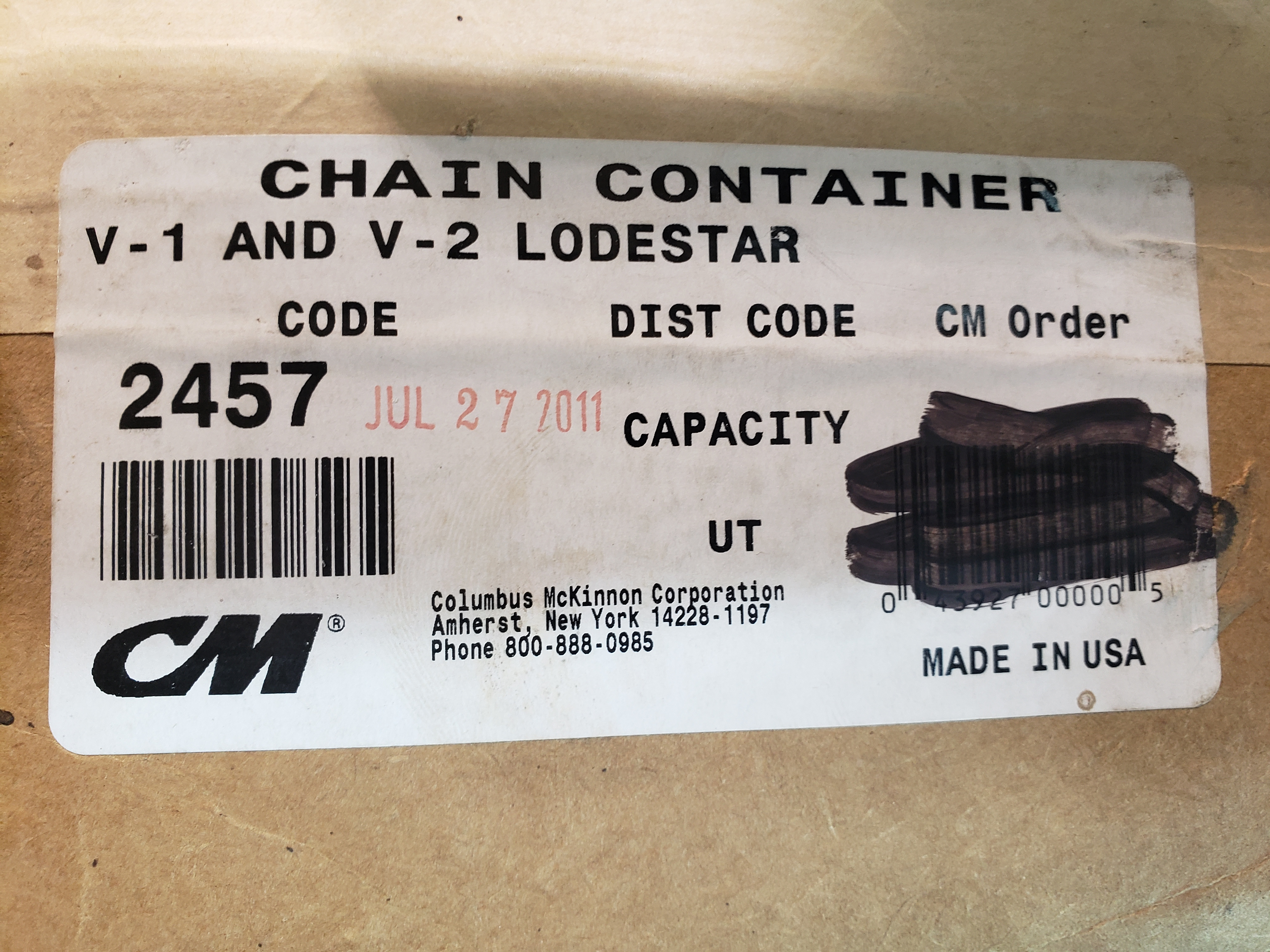 CM Chain Container 2457