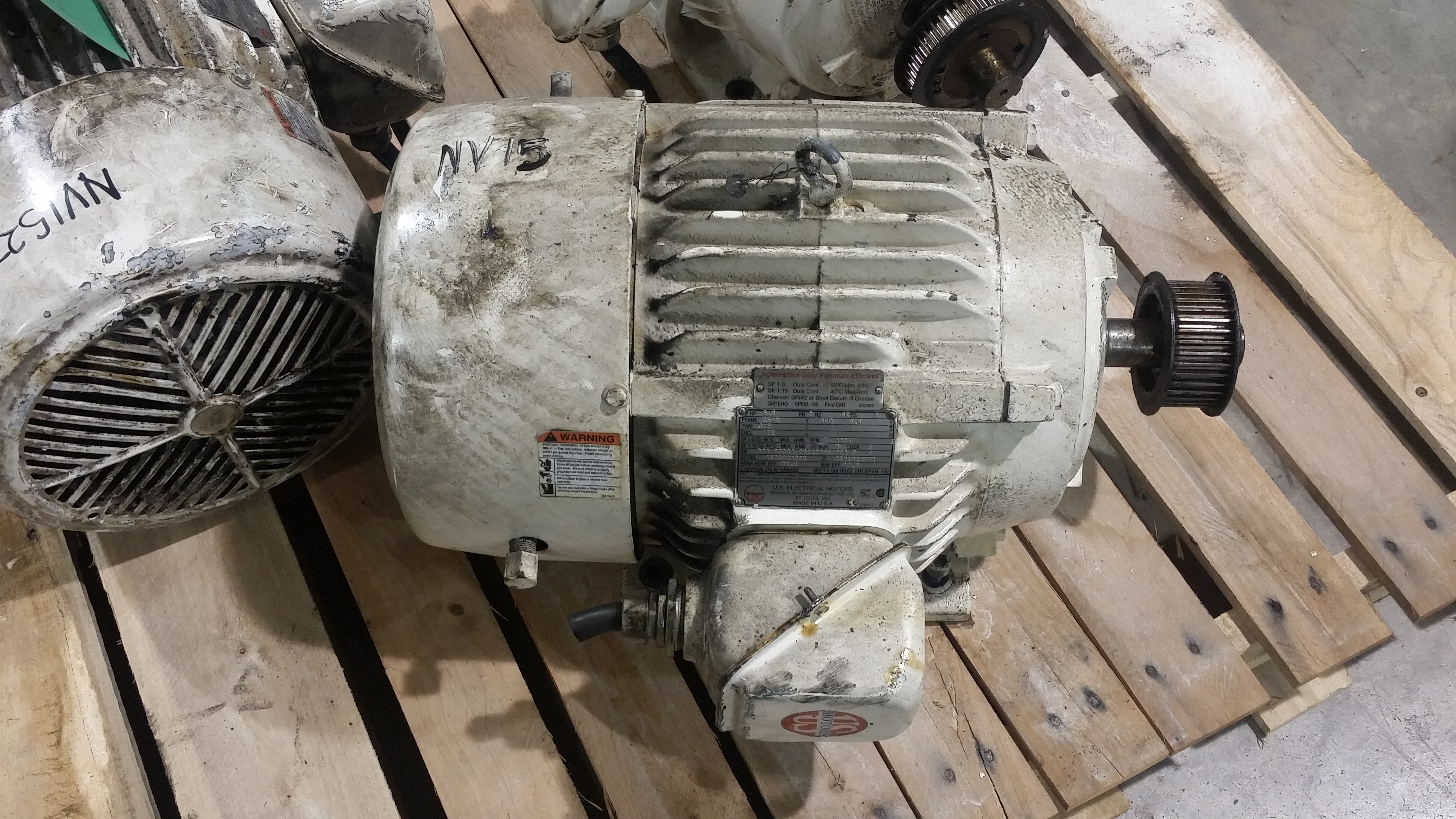 US Motors 5HP; 1185RPM; 460V; Frame: 254U; B11 R730A 01027866 00