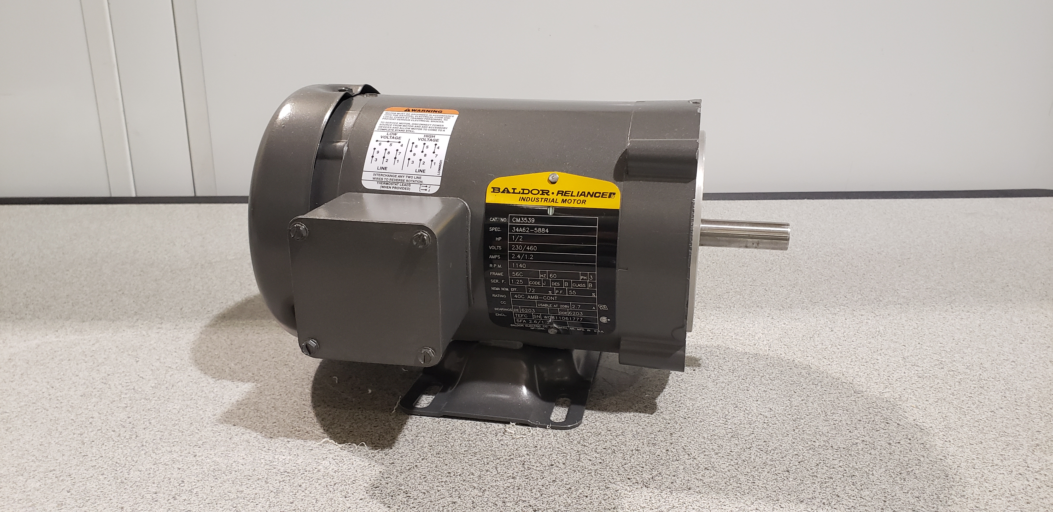 Baldor Reliance Electric Motor CM3539