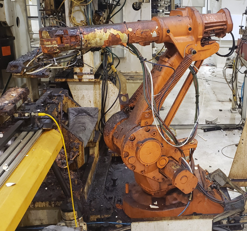 ABB IRB1400-M98 Robot Manipulator Arm w/ Controller and Teach Pe