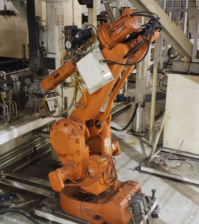ABB IRB2400-M98A Robot Manipulator Arm w/ Controller and Teach P