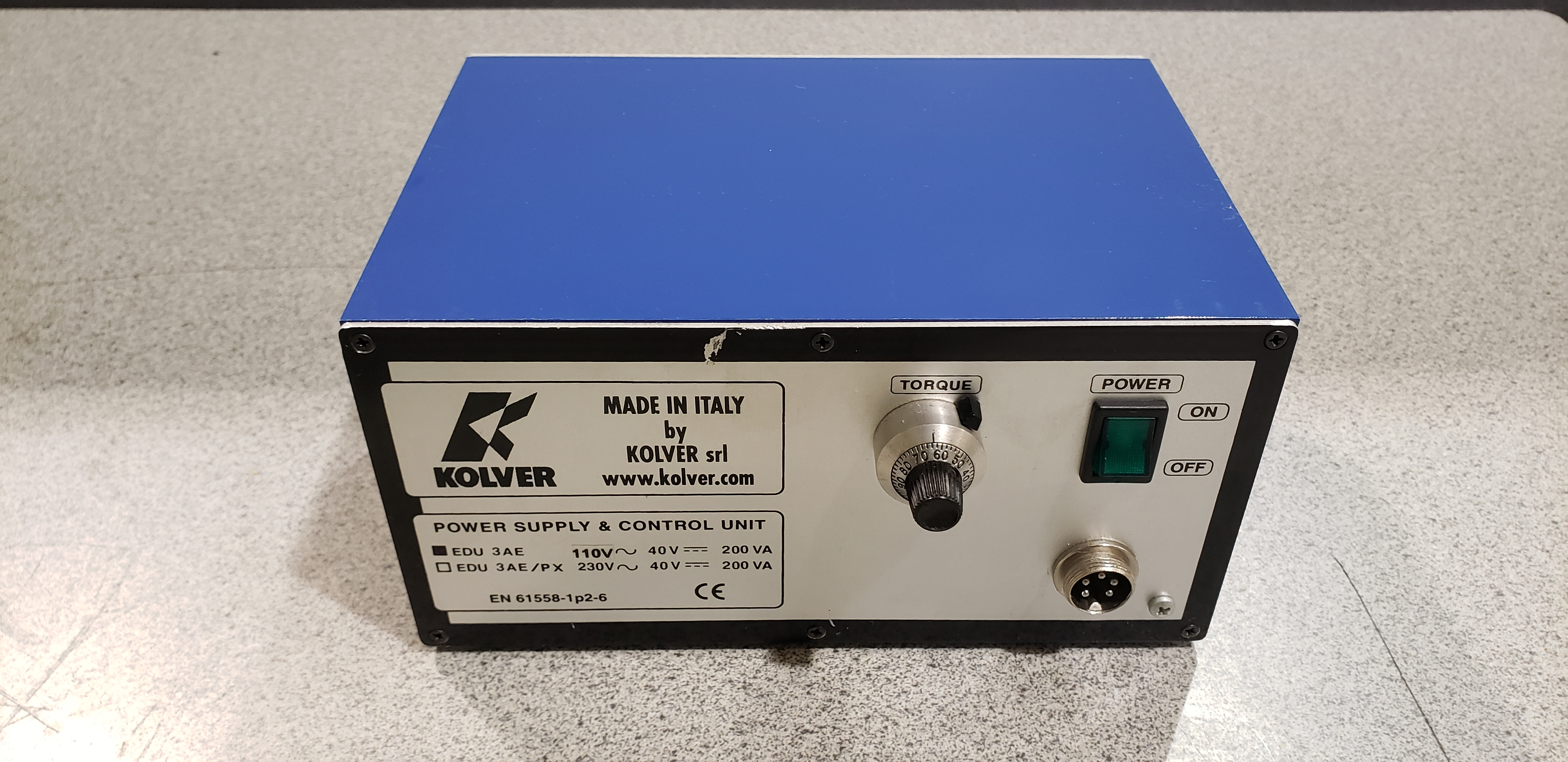 Kolver EN-61558-1P2-6  Power Supply & Control Unit