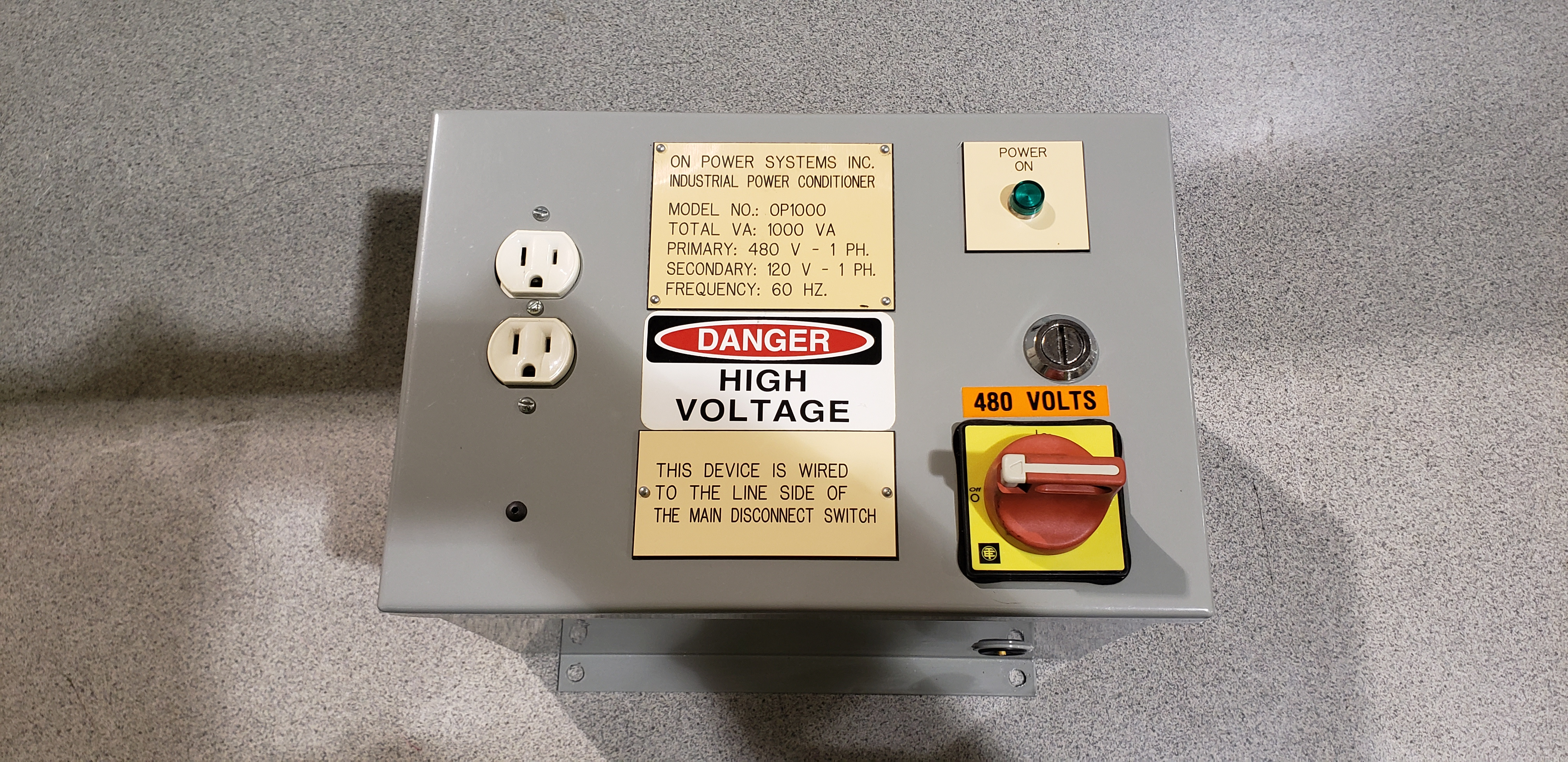 On Power Systems Inc Induction Power Conditioner 1000va 480-120v