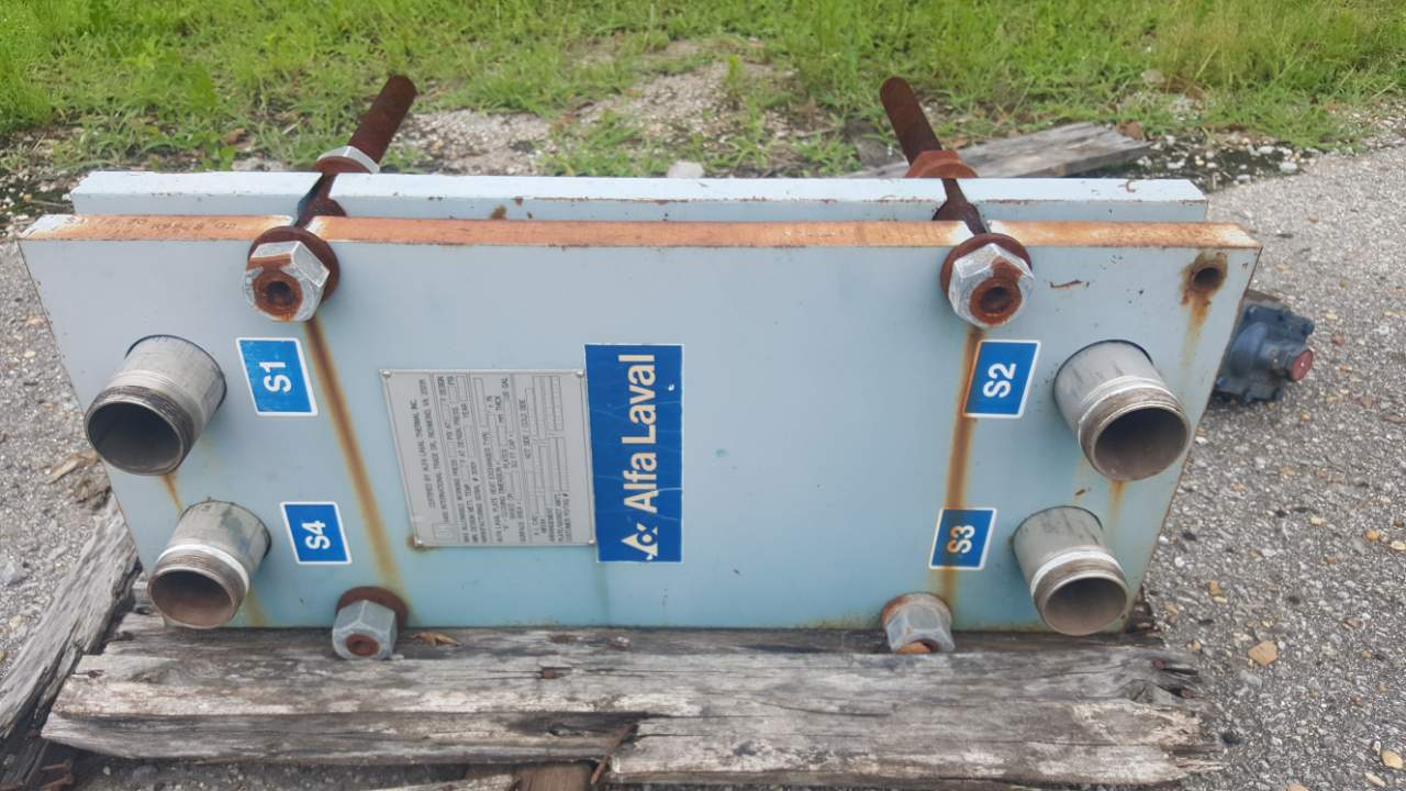 1993 Alfa Laval Plate & Frame 18.2 Sq Ft Heat exchanger