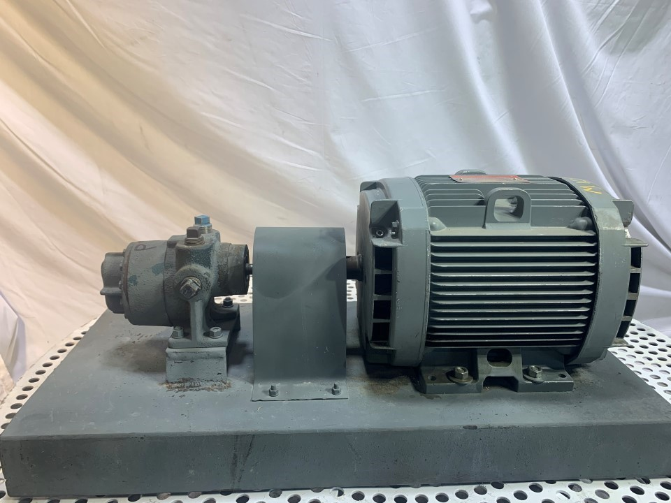 Roper Type 27 .75x.75 CS Pump with General Electric 5 HP 1155 RP