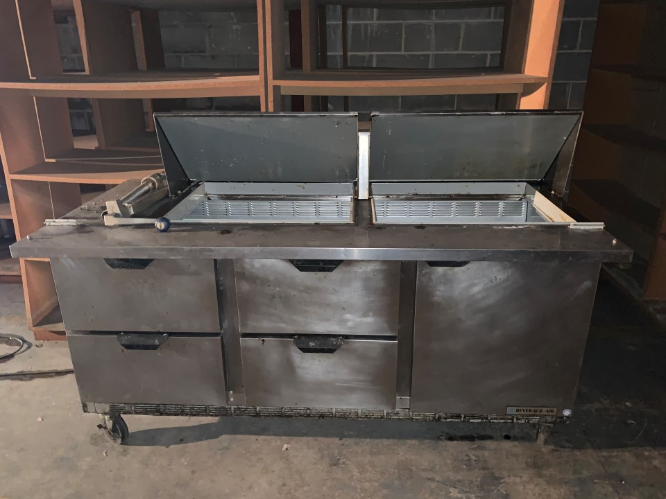 Beverage-Air Sandwich Prep Table Model: SPED72-24M-4-SNS  115 VA