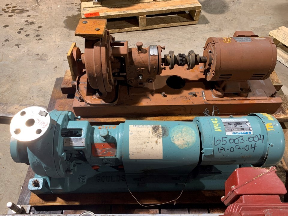 Goulds 3196ST 1.5x1-6/5.5 GA20 Centrifugal Pump with Marathon 2