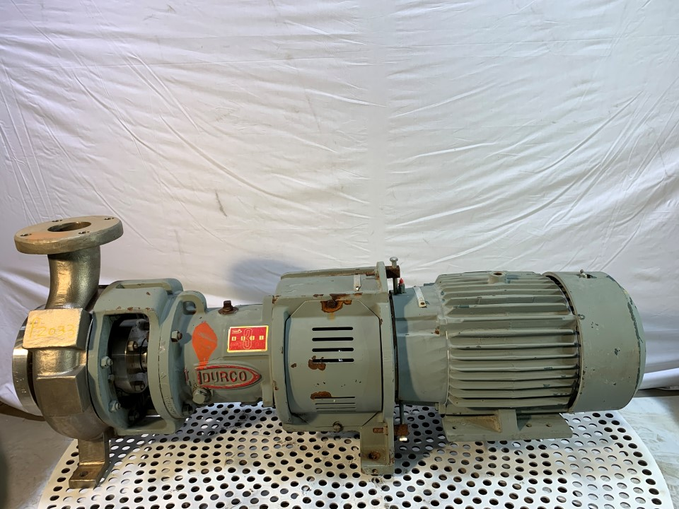 Durco MKII 2K4x3-82/74RV Centrifugal Pump with 7.5 HP Motor