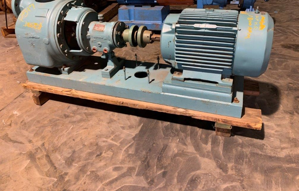 Goulds Pump Model 3796 Size 4x4-13 CD4M Pump with Reliance 20 Hp