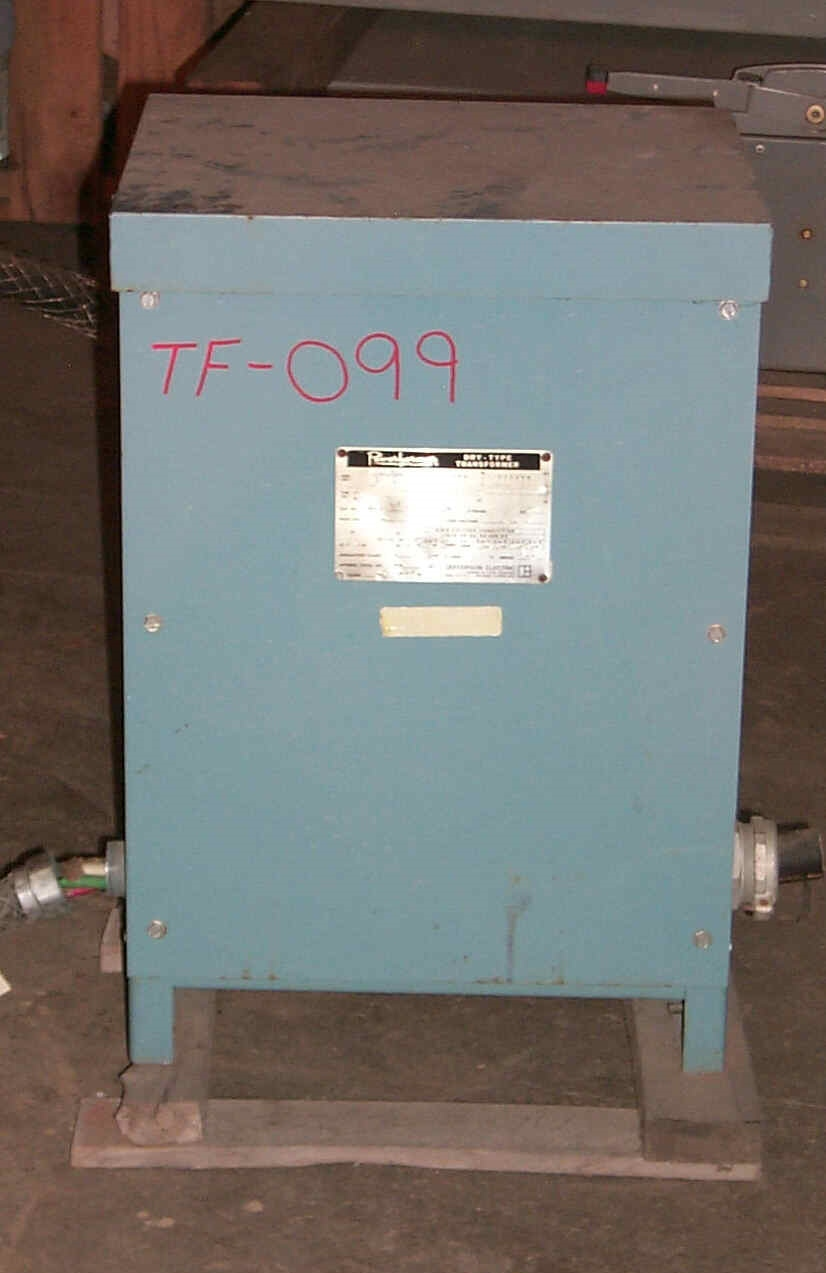 Jefferson 30 KVA 480-208Y/120 Dry Type Transformer