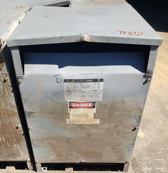 Square D 45T3H 45 KVA 480-208Y/120 Volts 3 Phase Transformer