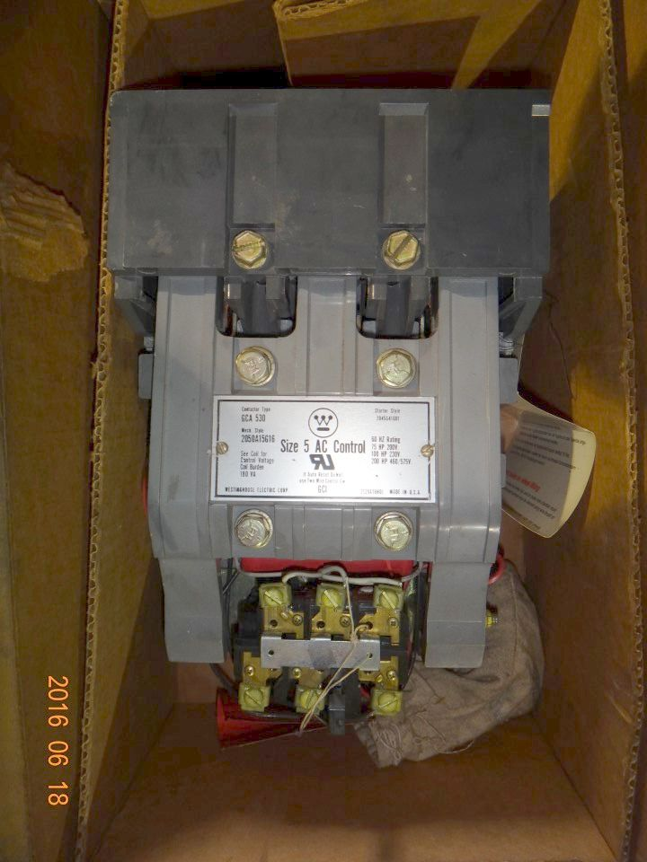 Westinghouse Contactor Size 5, GCA 530