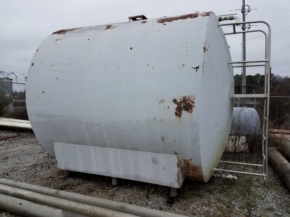 5,585 Gallon Stainless Steel Horizontal Syrup Tank